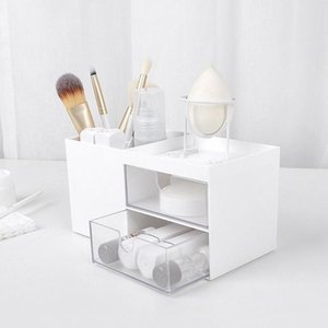 Plastic Makeup Organizer Drawer Jewelry Storage Box Cosmetic Brush Pen Holder Boxes & Bins