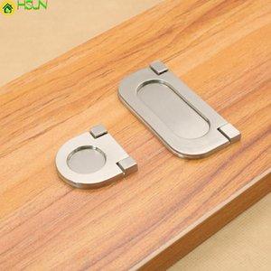Handles & Pulls 2 Pcs Cupboard Handle European Modern Simple Wardrobe Door High Grade Drawer Hidden Zinc Alloy