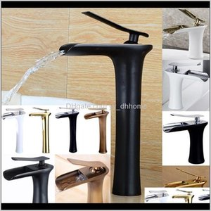 Sink Faucets Waterfall Copper Bathroom Vanity For Washbasin Mixer Tap Chrome Basin Modern Fashion Style Hblsm Ovahk
