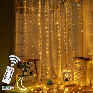 سلاسل 3 متر usb كورتينا وسيس الصمام الجنية سلسلة أضواء التحكم عن جارلاند الستار مصباح عطلة الديكور للمنزل نوم نافذة
