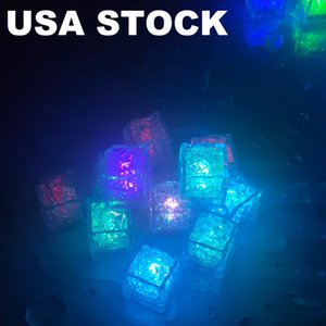 LED Light Ice Cubes Luminous Night Lamp Party Bar Wedding Cup Decoration Nights Lamps Partys Bars Weddings Cups Decorations Cupy USALIGHT USA TOCK