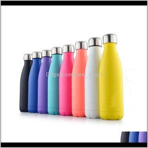 Double Walled Insulated Water Bottle Cup Cola Shape Stainless Steel 500Ml Sport Vacuum Flasks Thermoses Travel Bottles Owa1948 Insan 0Retc