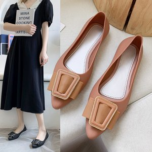 2020 Autumn and Summer New Lazy Half Slippers Outer Wear Elegant Closed Toe Flat-Heeled Flip-Flops Womens Casual Ins Fashion Slippers