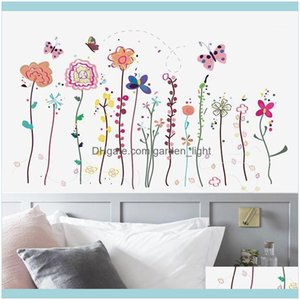 Wall Décor Home & Gardenwall Stickers Multicolor Flowers For Decor Living Room Bedroom Tile Decals Pvc Wallpaper Sticker Home1 Drop Delivery