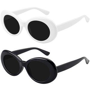 2021 Мода Овальные Солнцезащитные Очки Женщины Мужчины Бренд Дизайнер Винтажные Градиенты Цвет Линза Рама Симпатичные Стиль Солнцезащитные Очки UV400