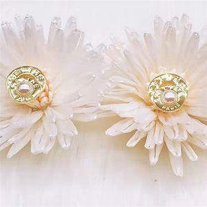 75% OFF 2021 Saijia letter pearl brass, 18K gold 928 silver needle earrings, female QXHJ