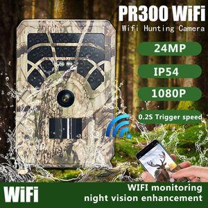 PR300 WIFI 24MP HD Trail Hunting Camera 5 Million Field Cameras Wild Surveillanc Night Version Wildlife Scouting Photo Traps