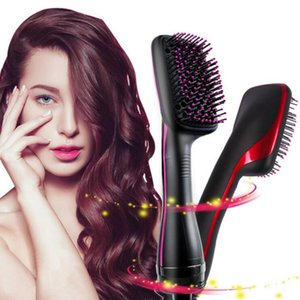 New Styles Hair Brush Hair Straightener Straightening Flat Iron Comb Anion electric Hair Dryer Two Colors Heating Brushes