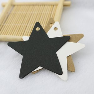 100pcs lot Kraft Paper Hang Tags Star Design For Wedding Party Favor Punch Label Price Gift Cards 6x6cm