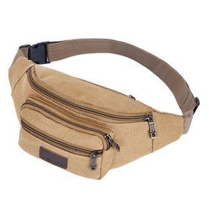 Mens Canvas Fanny Pack Casual Bum Bag Money Waist Hip Belt Storage Boxes & Bins