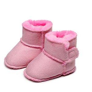 Малыш младенческая предыдущая обувь дизайнер новых детских ботинок зима детей мальчики девушки теплые снежные ботинки
