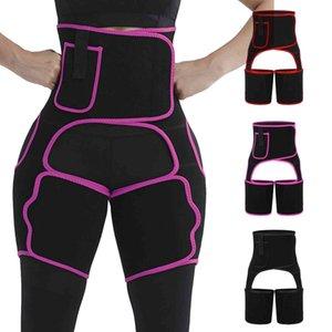 2021 Pantolon Eğitim Spor Tayt Kadınlar Için Uyluk Shaper Yüksek Bel Spor Bel Eğitmen Uyluk Butt Y0327 Kaldırma