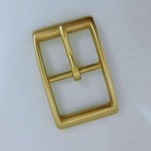 3.0 Rectangular Japanese Button Pure Copper Brass Belt Button Pin Buckle Solid Belt Head