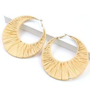 Hoop Earrings For Women Simple Bohemian Geometry Round Hollow Jewelry Tiered Statement Bijoux & Huggie