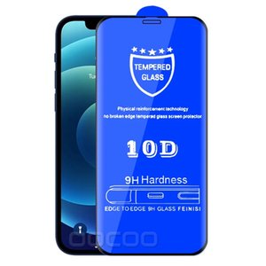 10D Full Glue Screen Protector Transparent Tempered Glass For Iphone 12 Mini Pro Max 11 12Pro 11Pro 7 8 6 Plus