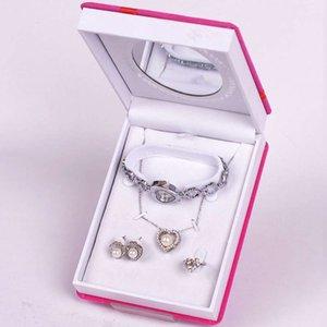 2021 new women's jewelry three piece set fashionable watch bride wedding dress accessories three piece set straight