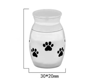 Katzenträger Kisten Häuser Kleine äuren Urne Für Haustier Asche Mini Andenken Edelstahl Memorial Urns Hunde Katzenhalter GWE6284