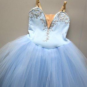 Stage Wear Ballet Skirt Children's Performance Costume Professional Little Swan Girls Blue Tutu