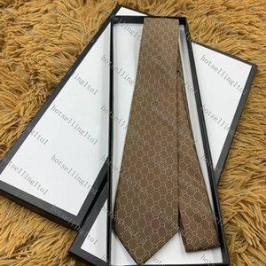 Men's Letter Tie Silk Necktie Gold Blue Jacquard Party Wedding Woven Fashion Design with box G001