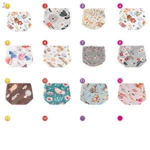 Baby Bibs Newborn Burping Cloths Boys Girls Accessories Kids Towel Cotton Flower Soft Infant Feeding Triangular Scarf B7098