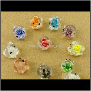 Cute Pig Lampwork Glass Charms Loose Spacer Bead For Bracelet Jewelry Making Nkeoc Akznp
