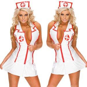Women Sexy Lingerie Fashion Cute Uniforms Temptation Underwer Nightdress Cosplay Nurse Uniform Costumes Underwear Y0911 Y0911