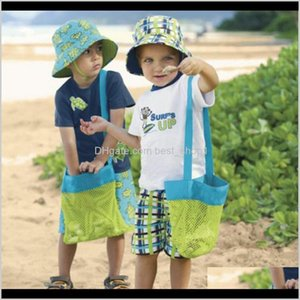 Boxes Storage Mesh Tote Clothes Toys Carry Bags Sand Away Beach Baby Toy Collection Bag Il1Pc S2Hik