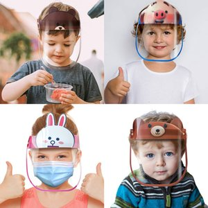 Anti-fog 12 Designs Reusable Kid Cartoon Face Shield Protective Mask Full Face Anti-splash Dustproof Protection Children Safe Party Masks