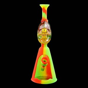 Silicone smoking pipe water bong pipes hookahs monster head-shaped dab rig bongs use for cigarette