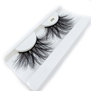 False Eyelashes 1Pair 25MM Lashes 3D 100% Mink Hair Thick Long Wispy Fluffy Handmade Eye Cruelty-free Woman's Beauty Tool