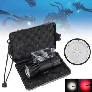 Flashlights Torches SecurityIng Diving 8000LM 3 Modes Light Underwater 100M Powerful Professional Searchlight Scuba Dive Torch Bo