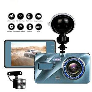 4in Car DVR Dash Camera Rear View Dual Lens 1080P Full HD Cycle Recording G-Sensor Cam Video Recorder Dashcam 2.5D Screen DVRs