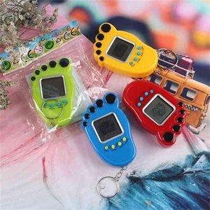 Foot Shape Electronic Pets Tamagotchi Key Ring Vintage Digital Pocket Mini Retro Game Machine Keychain Nostalgic Virtual Toy For Kids Adult G400493