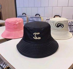 3 Renk Bayan C harfleri Kova Şapka Açık Geniş Brim Şapka Fedora Güneş Kremi Balıkçılık Balıkçı Avcılık Kap Erkekler Havzası Chapeau Güneş Şapkalar Önleniyor