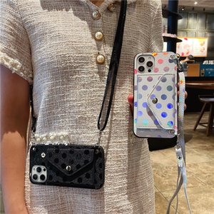 Gradient Dots Shoulder Leather Envelope Wallet Case for Samsung A10 A20 A30S A50S A60 A70S A81 A91 A21S A31 A51 A71 5G M40S