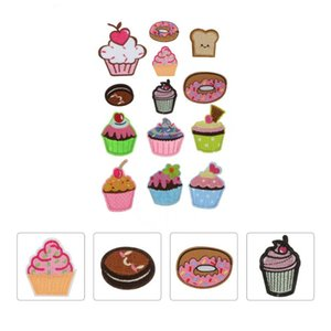 13Pcs Cupcake Iron On Patches Embroidered For Clothes Sewing Other Festive & Party Supplies