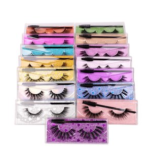 3D Naturally Dense and Handmade Mink Eyelashes Natural Thick Long Fake Eyelash With Brush