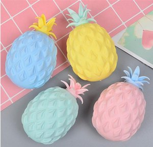 Anti Stress Toys Novelty Games Pineapple Squeezing Gadget for Fun Soft Anxiety Reliever with Box