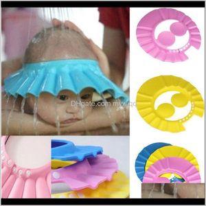 Born Baby Girls Boys Caps Infant Toddler Adjustable Waterproof Ear Protection Kids Shower Hats C1457 88Cl3 4Addk