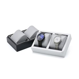 Packaging Jewelry Drop Delivery 2021 Pu Leather Watch Display Stand Mens Wrist Watches Holder Tray With Cushion Pillow For Boutique Store Sho
