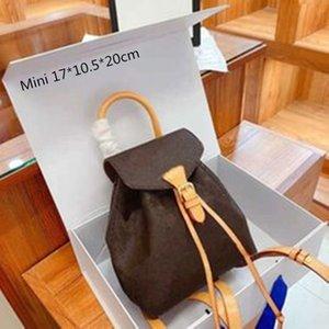 أزياء فاخرة المرأة حقائب الظهر الحقائب المدرسية الطلاب الكلاسيكية حزمة الظهر مع رسائل الزهور للجنسين مصغرة ومتوسطة الحجم 4 ألوان عالية الجودة L21011102