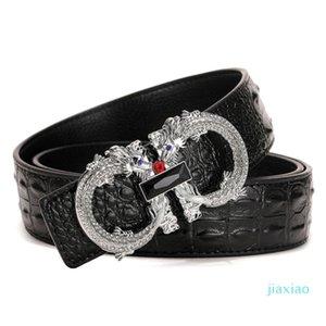 Men Belts Luxury Brand Famous Designer Belt High Quality Male Genuine Leather Strap Wedding Silver Gold Dragon Buckle