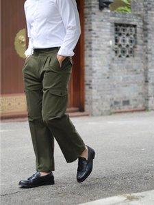 GÜZ / KIŞ 20 Amerikan Tarzı Retro Çift Pileli Pantolon Gurkha Haki İş Giysileri Düz Tüp Gevşek Askeri Erkekler Için Erkekler