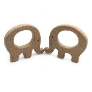 خشب الزان الخشبي الفيل الطبيعي اليدوية خشبية عضاضة diy الخشب شخصية المعلقة صديقة للبيئة آمنة الطفل teether اللعب 374 Y2