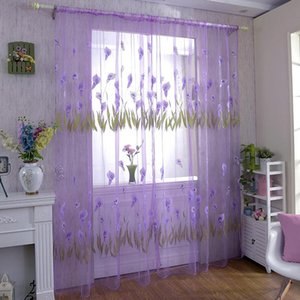 Curtain & Drapes 100cm X 270cm Door Drape Panel Room Divider Scarf Sheer Voile Window Decor 3 Colors
