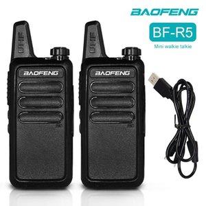 Walkie Talkie 2PC Baofeng Mini BF-R5 UHF 400-470HMz Two Way Radio Ham Portable Handheld Comunicador El Restaurant