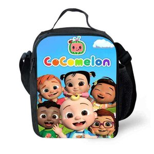 17 Colors cocomelon cartoon lunch bag insulated picnic bags students crossbody fanny pack messenger shoulder bags sports school totes G70K1VJ