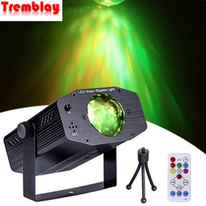 LED Disco Light Colorful Waterfall Projection Lamp Water Ripple Party Light With Remote For Home Stage Light As Christmas Gifts