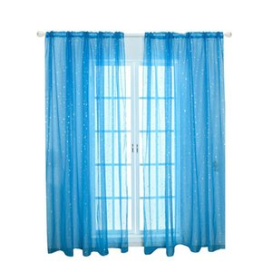 Curtain & Drapes Star Tulle Curtains Modern Window For Living Room Transparent The Bedroom