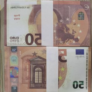 Toy 50 Kids Game Prop Money Paper Wholesale Us Play Or 100pcs pack Realistic Euro Copy Banknote Family Dahsi